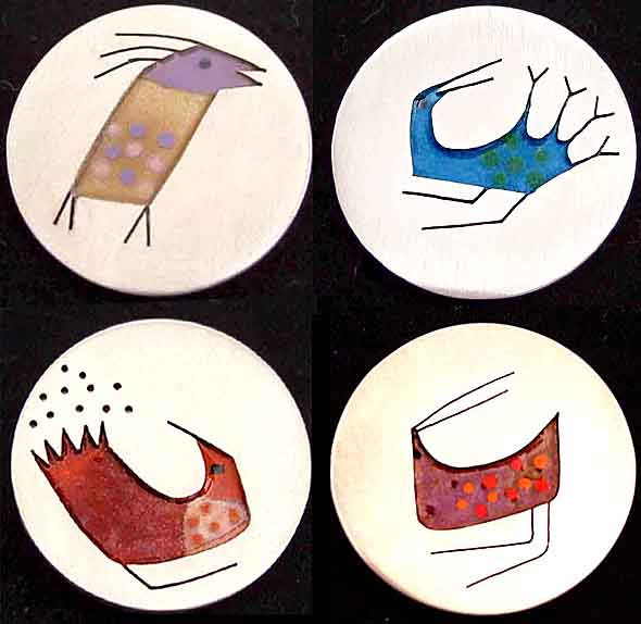 enamel birds