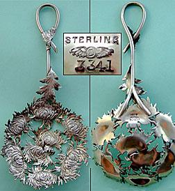 Shiebler sterling sterling Chrysanthemum Bon Bon server