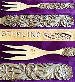 Shiebler sterling Serving Fork