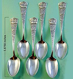 Shiebler sterling Chrysanthemum Spoons