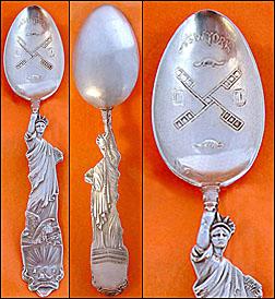 Shiebler Liberty souvenir spoon