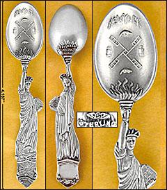 Shiebler <em>Lady Liberty</em> sterling souvenir spoon