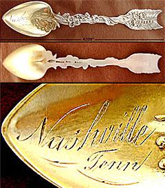 Arrow & Heart Shiebler sterling souvenir spoon