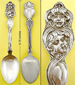 Unger Cupid Sunbeams sterling spoon