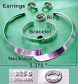 Georg Jensen Sterling Jewelry Set