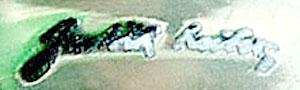 Judith Leiber sterling Zebra ring makers mark