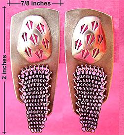 sterling Chainmail earrings