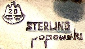 Stella Popowski mixed metal earrings makers mark