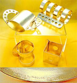 Memphis-Milano Design napkin rings