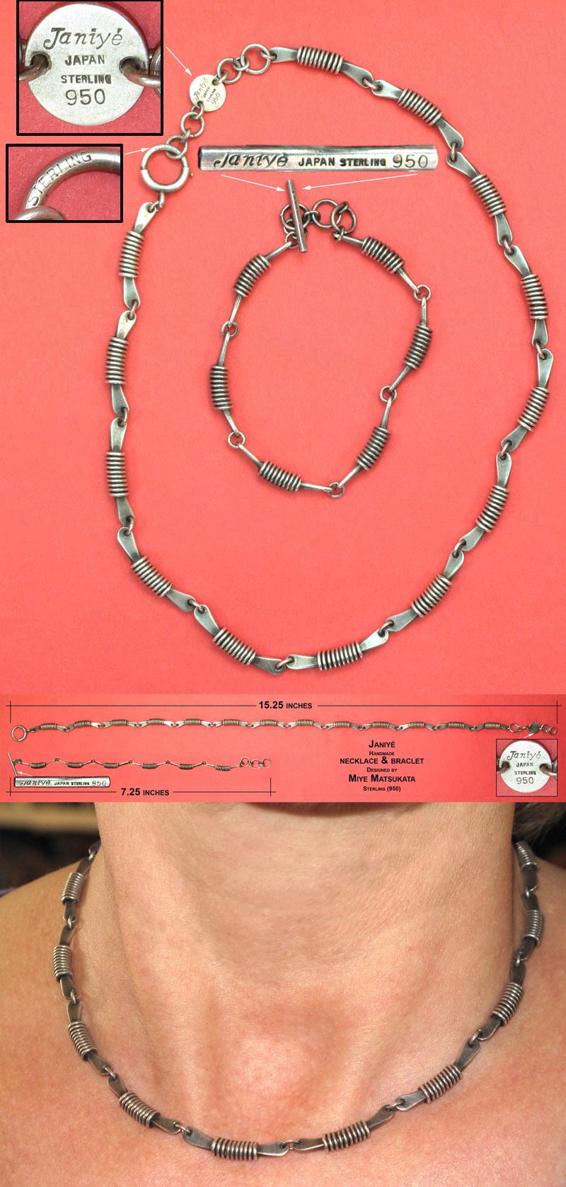 Sterling Janiye bracelet necklace