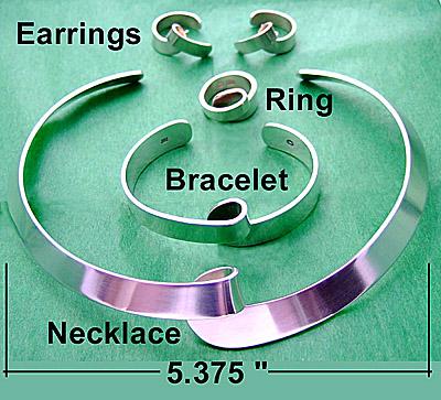 Jensen Modernist Sterling Jewelry Set