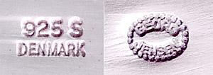 Jensen Modernist Sterling Jewelry Set mark