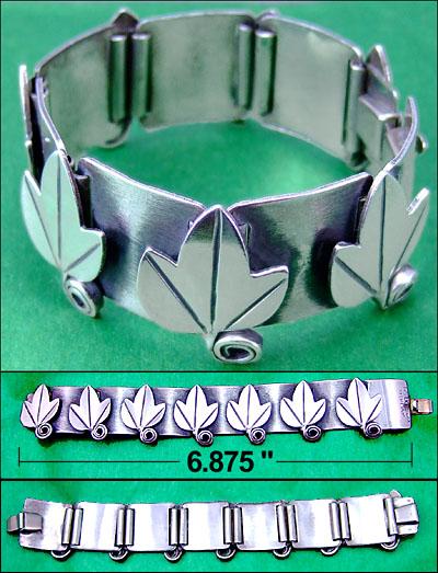Rebajes Jewelry Sterling leaf design bracelet