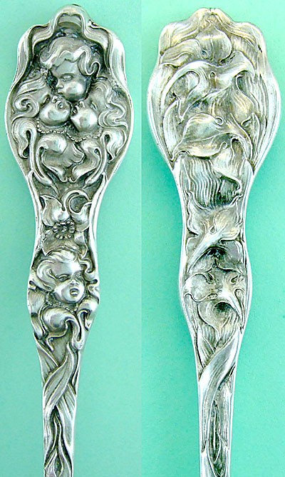 Unger Cupid Nosegay sterling  spoon