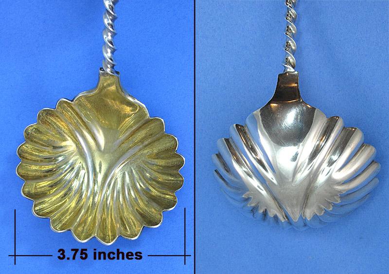 Albert Coles large coin silver ladle bowl
