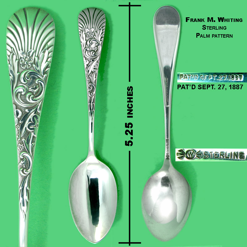 Palm pattern sterling coffee spoons - Frank M. Whiting Co.