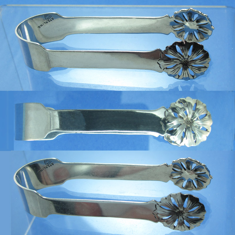 Handcrafted sterling sugar tongs - Stavre Gregor Panis
